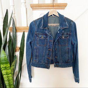 Free People Fitted denim jean jacket sz XS